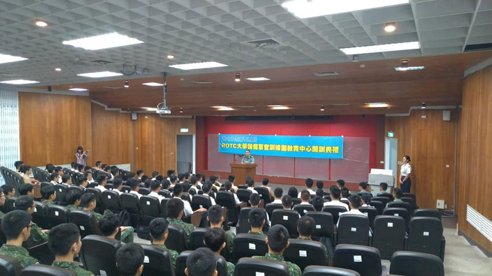 Major General Chen, the superintendent hosted the training ceremony